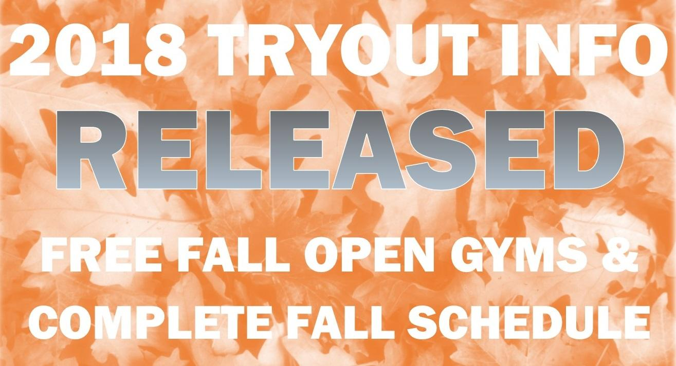 Check Out Fall Programs 2018 Tryout Schedule Info Triangle Volleyball Club